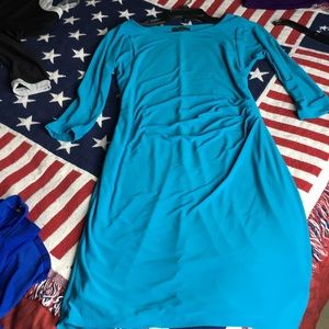 Lauren dress stretchy turquoise